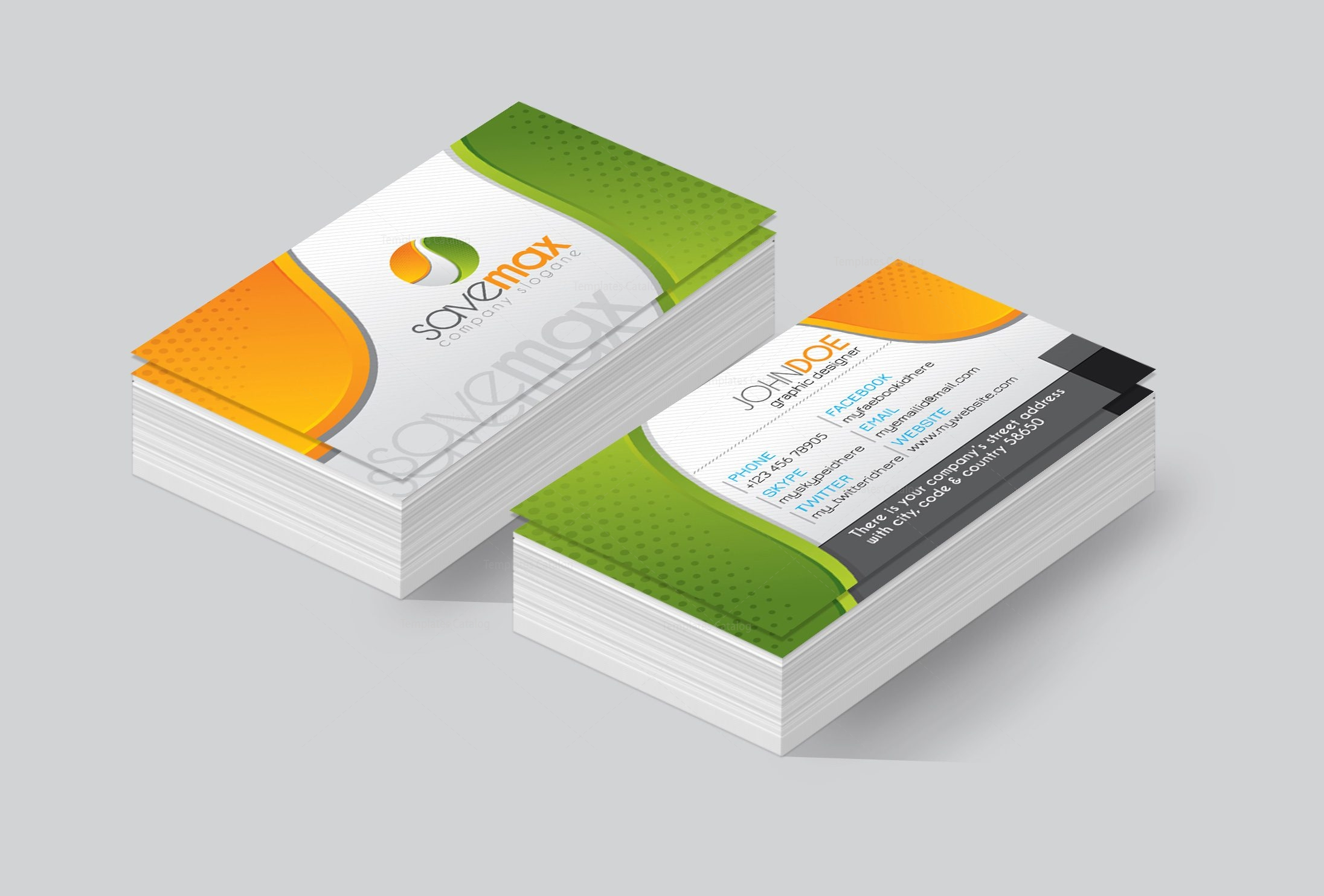 omaha premium corporate business card template 001445