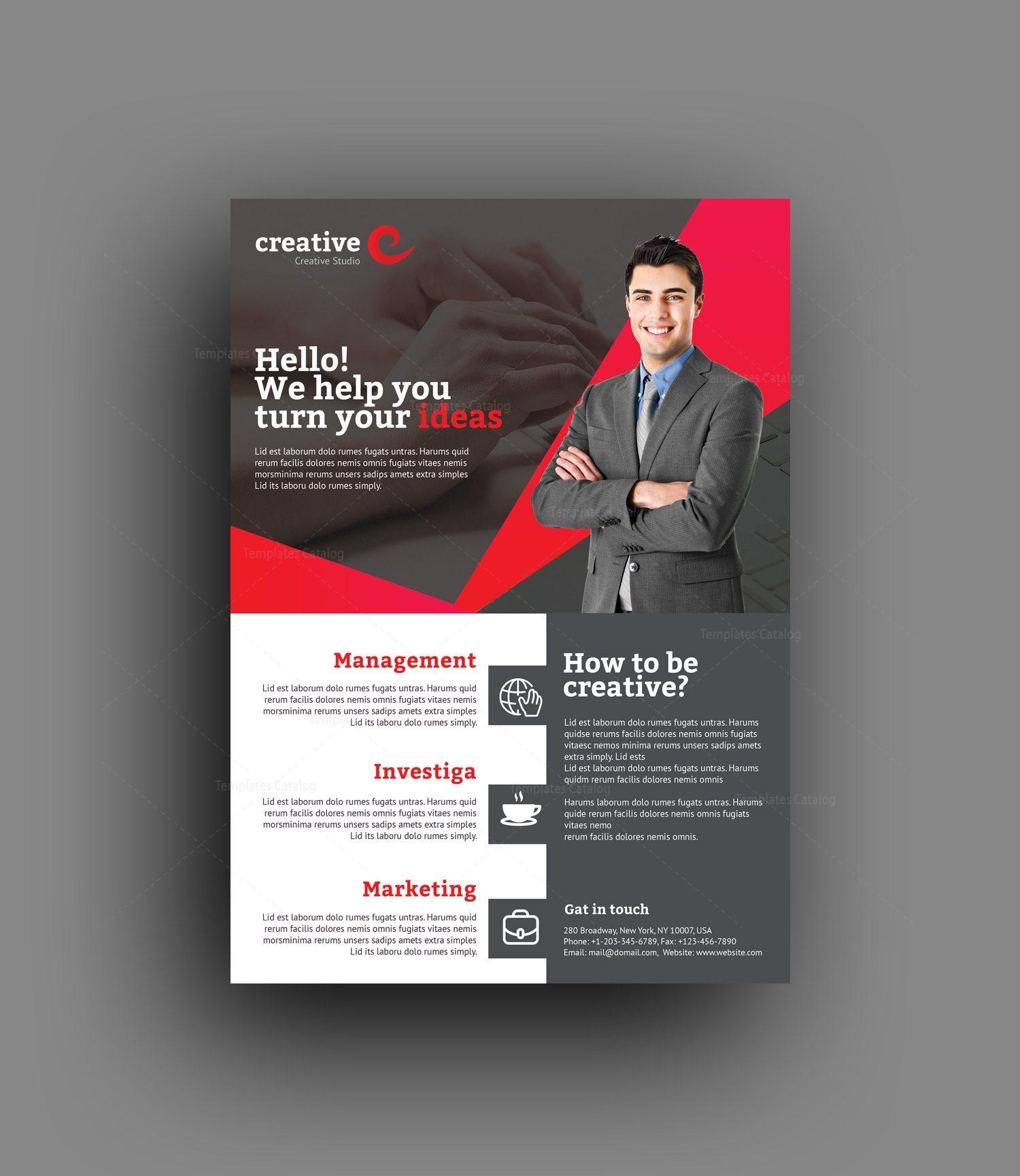 Orlando Creative Professional Flyer Template 001388 - Template Catalog