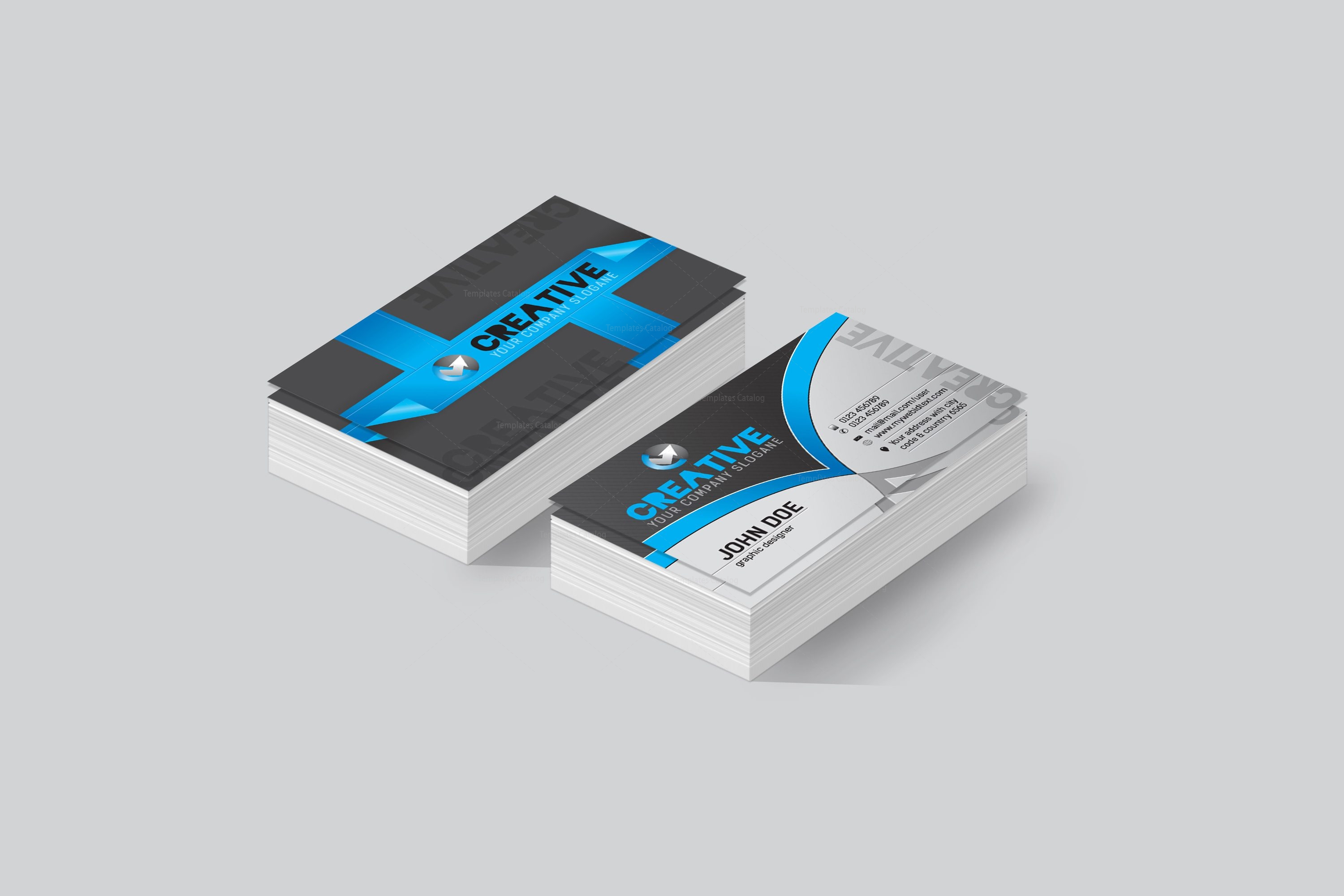 Ottawa creative corporate business card template 001434 template ottawa creative corporate business card template 2 reheart