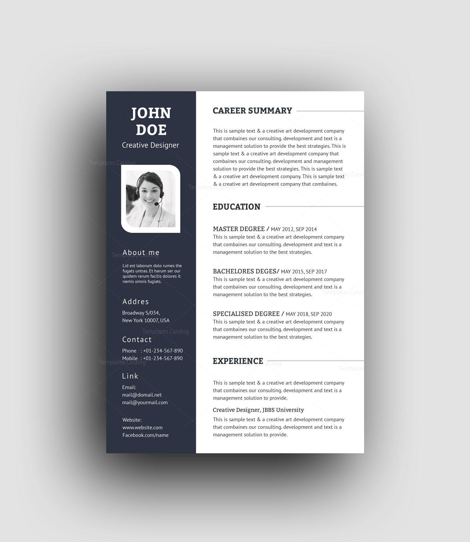 Buy resume psd