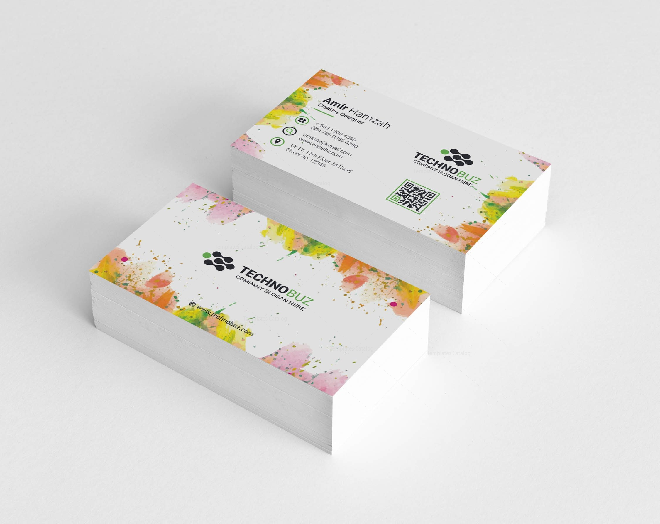Paint elegant corporate business card template 001347 template catalog paint elegant corporate business card template fbccfo Image collections