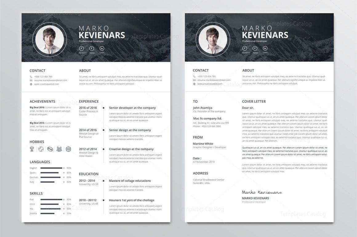 poseidon premium professional resume template 001265