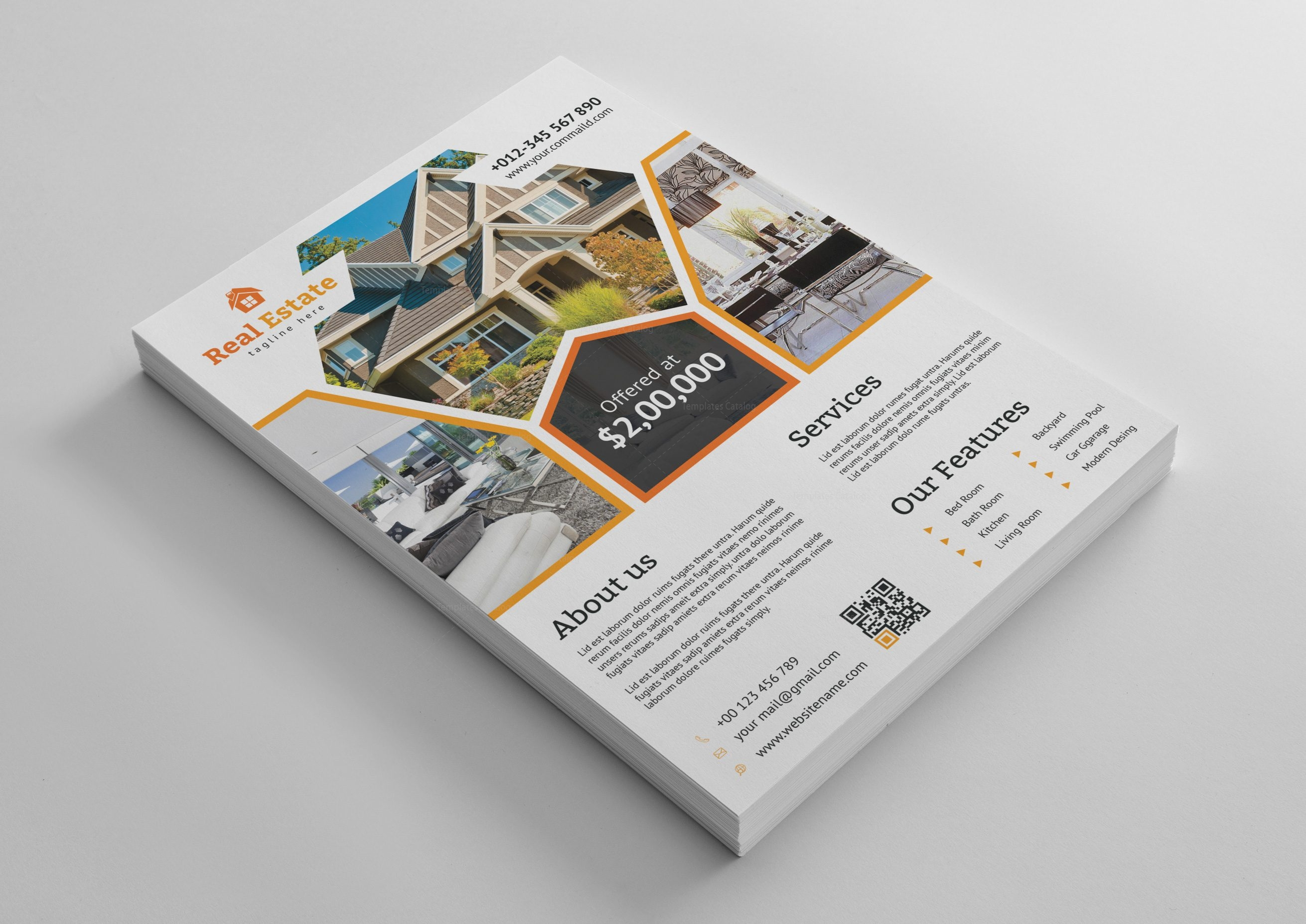 Premium Real Estate Flyer Design Template 001488 Template Catalog