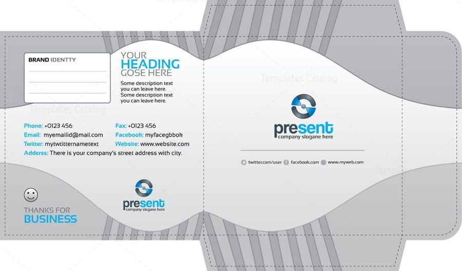 Present CD Sleeve and Sticker Template 001304 - Template Catalog
