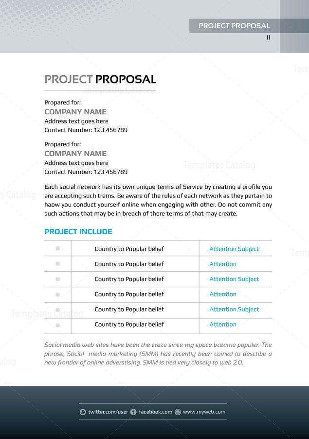Present Premium Business Bi Fold Proposal Template