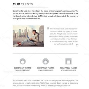 Present Premium Business Bi-Fold Proposal Template