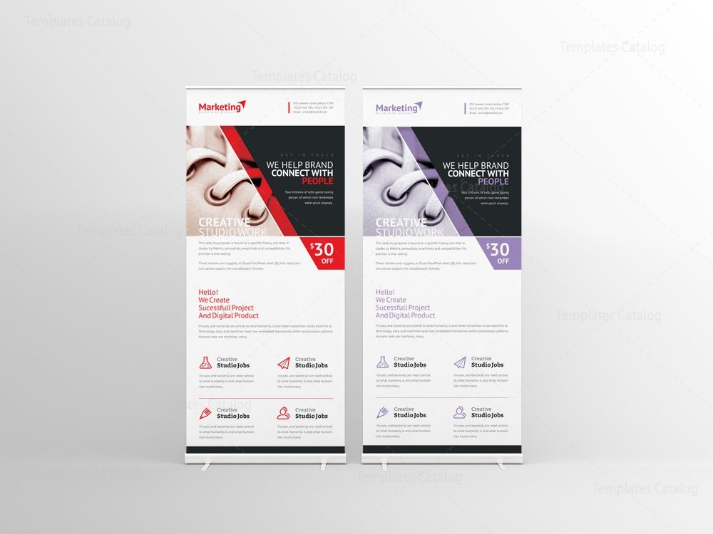 prometheus corporate roll up banner template 001259 template catalog