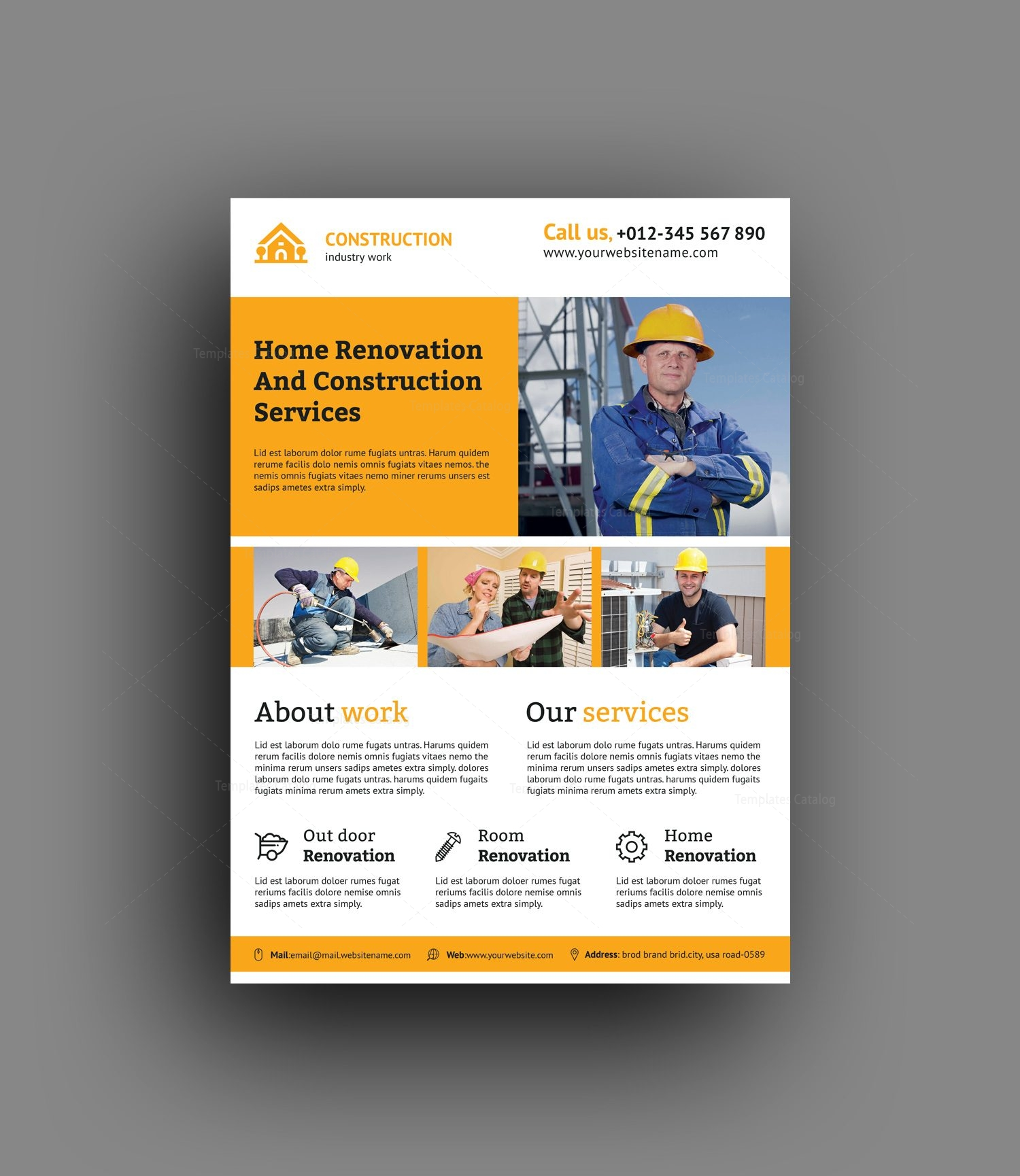 renovation construction flyer design template 001491 template catalog