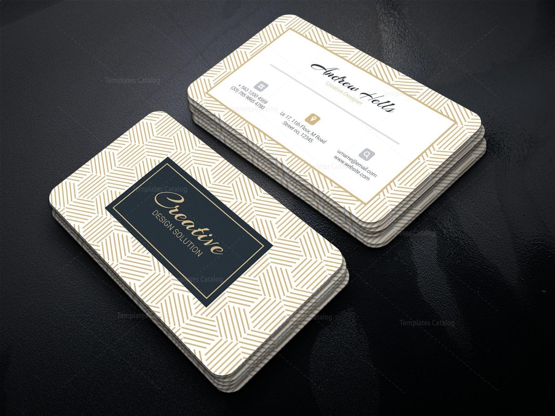 retro professional corporate business card template 001327