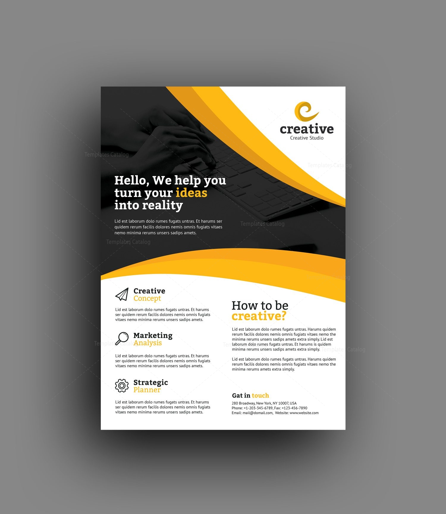 riga elegant professional business flyer template 001376