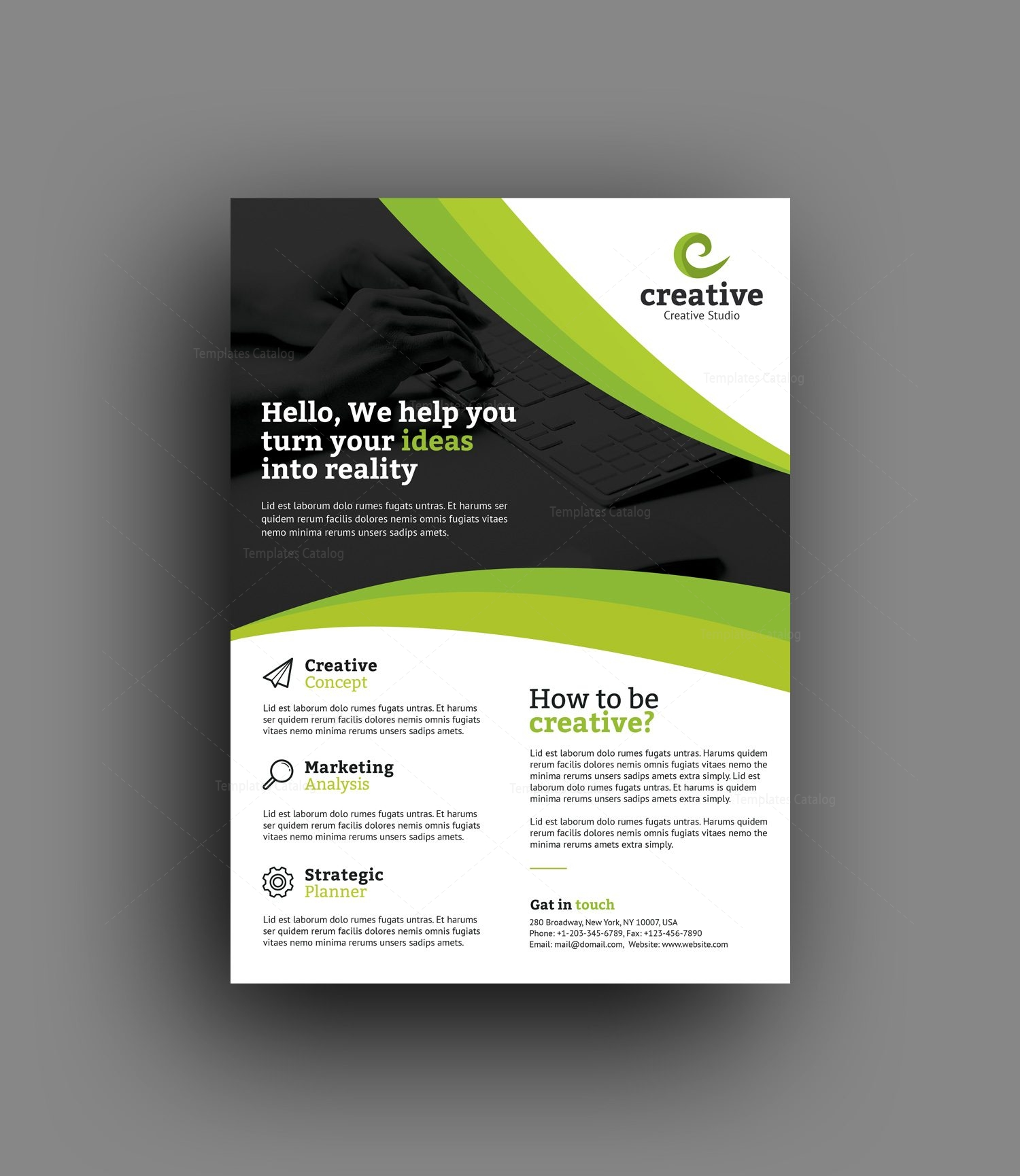 Free Blank Business Flyer Templates: Riga Elegant Professional Business Flyer Template 001376