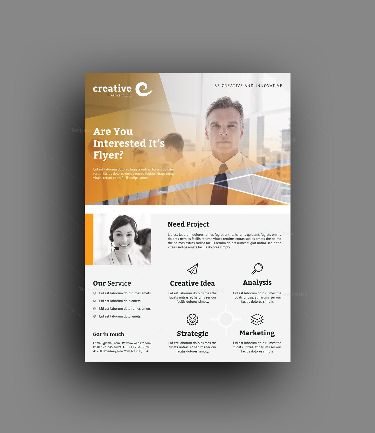 rotterdam modern business corporate flyer template 001417 template