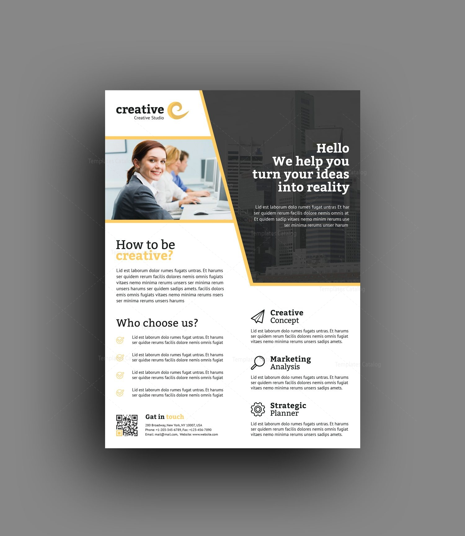 Seoul Modern Professional Business Flyer Template 001398 - Template ...