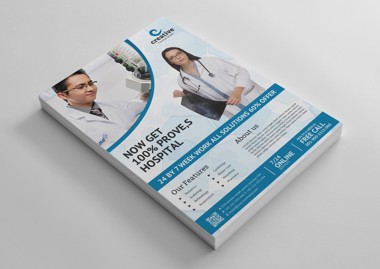sleek medical flyer design template 1