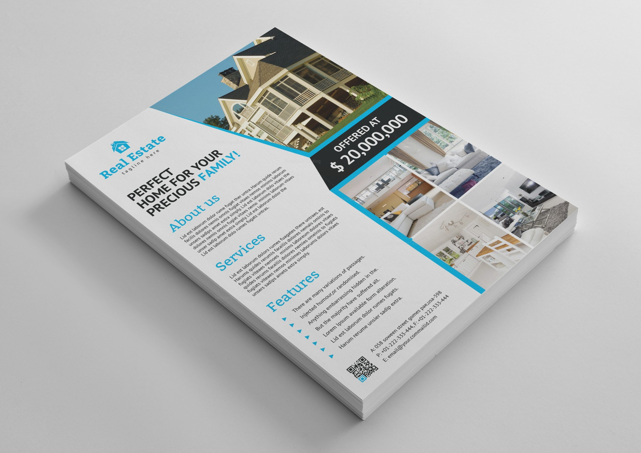 stylish real estate flyer template 001467 template catalog