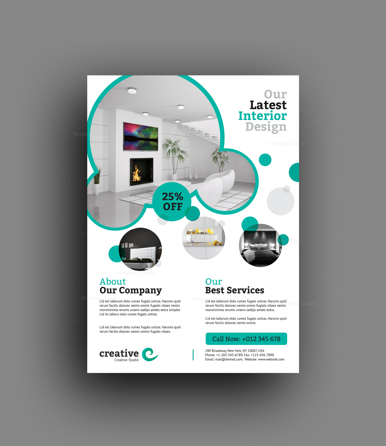 Sydney Stylish Interior Design Flyer Template 001383 Template Catalog