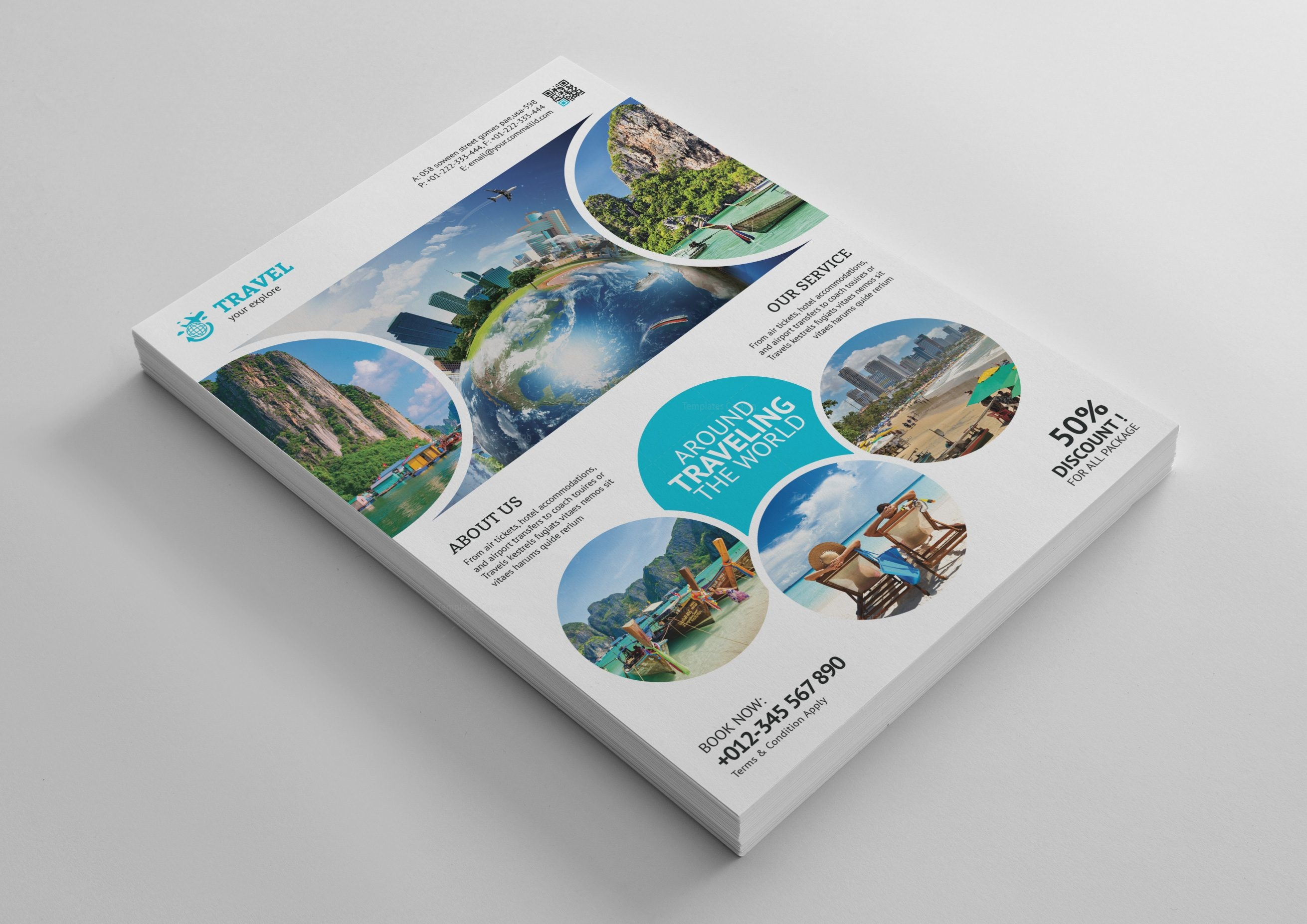 Tourism Travel Agency Flyer Template 001472 Template Catalog