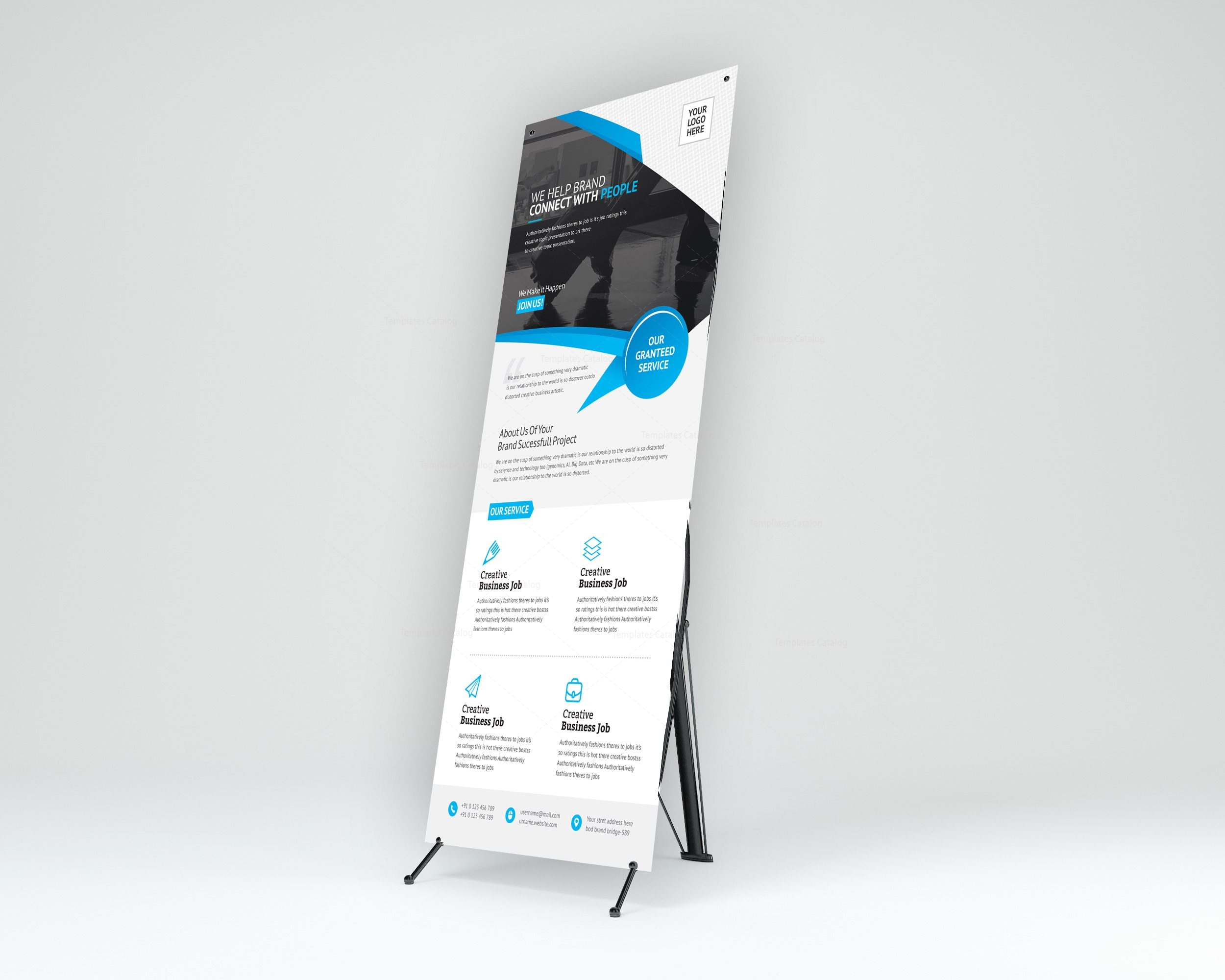 Unicorn Corporate Roll-Up Banner Template 001257 - Template Catalog