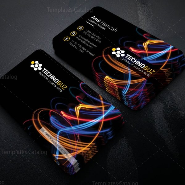 Vivid Professional Corporate Visiting Card Template 1