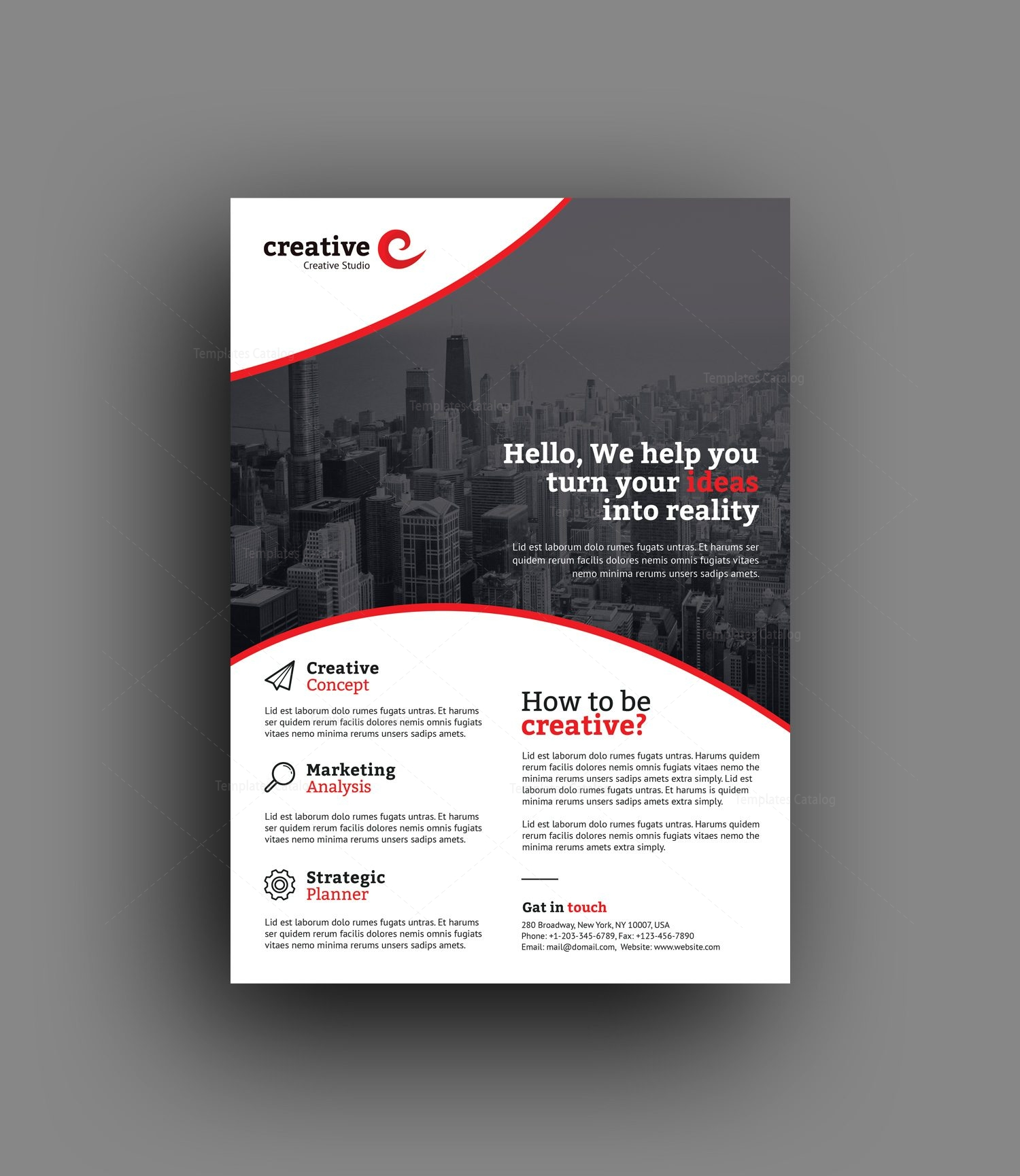 warsaw elegant professional business flyer template 001378