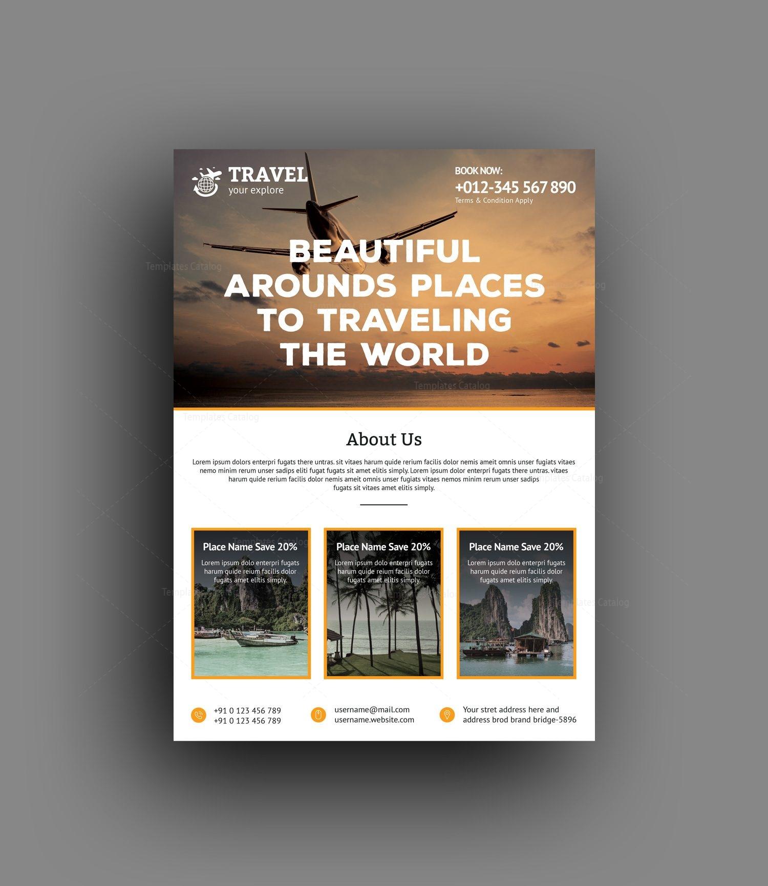 zeus travel agency flyer design template 001476 template catalog