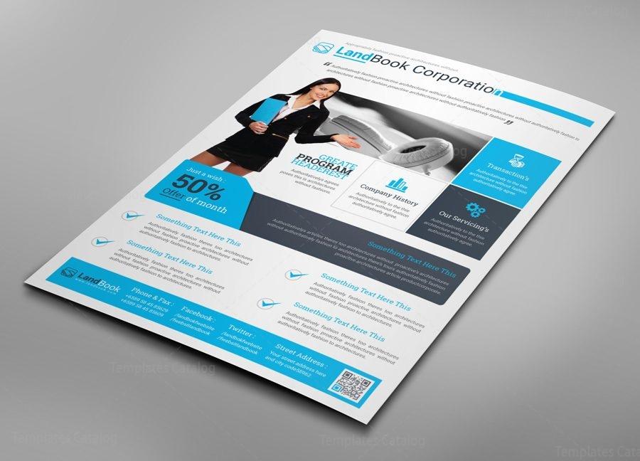 alberta professional business flyer design template 001542