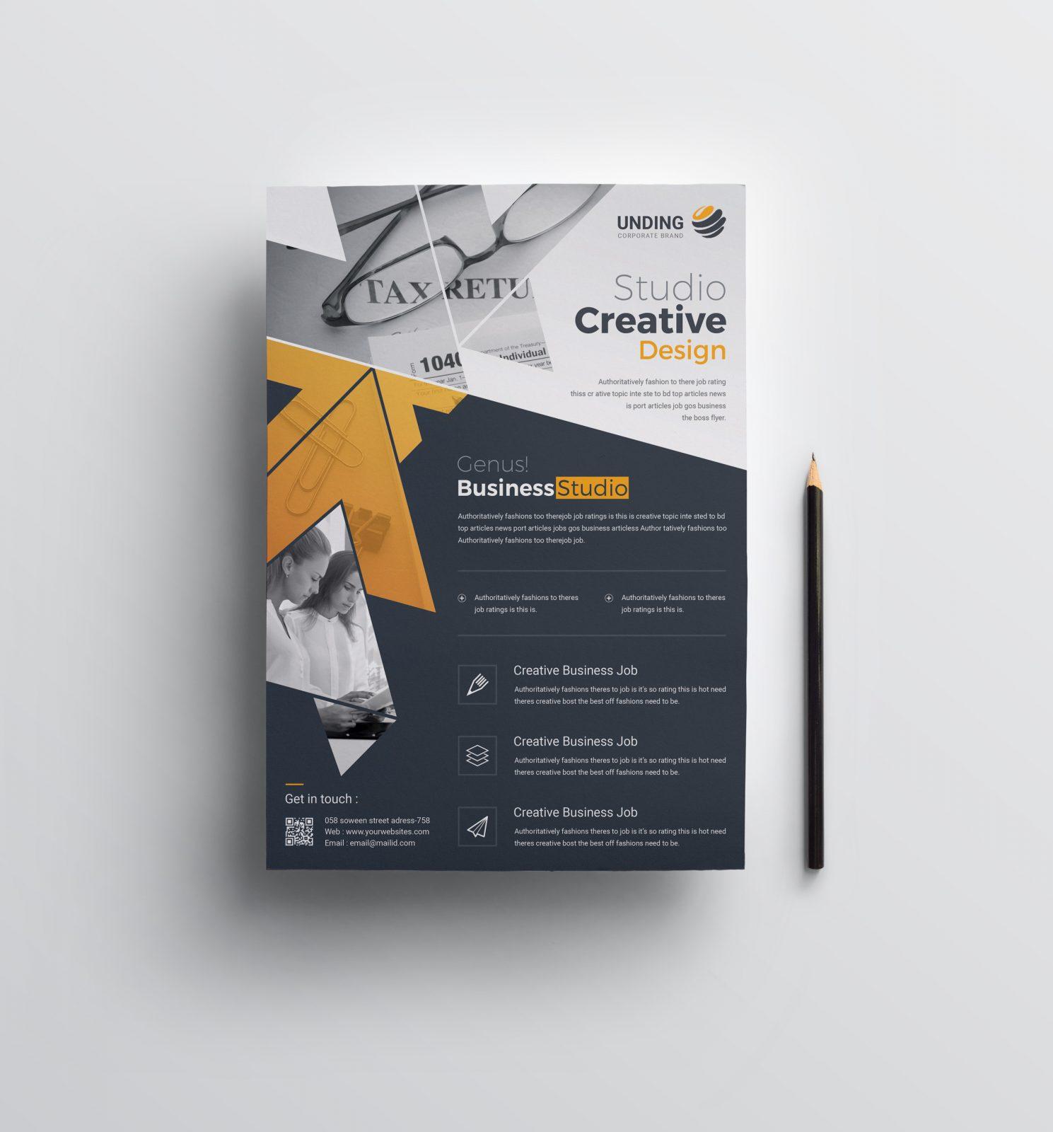 apollo creative business flyer design template 001527