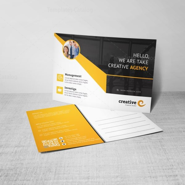 Ares Professional Corporate Postcard Template 3