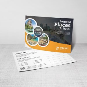 Artemis Travel Postcard Design Template