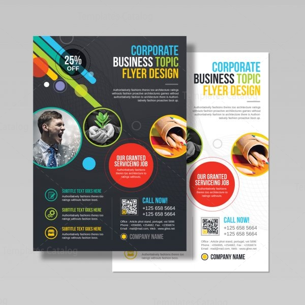 Athena Professional Business Flyer Design Template 3