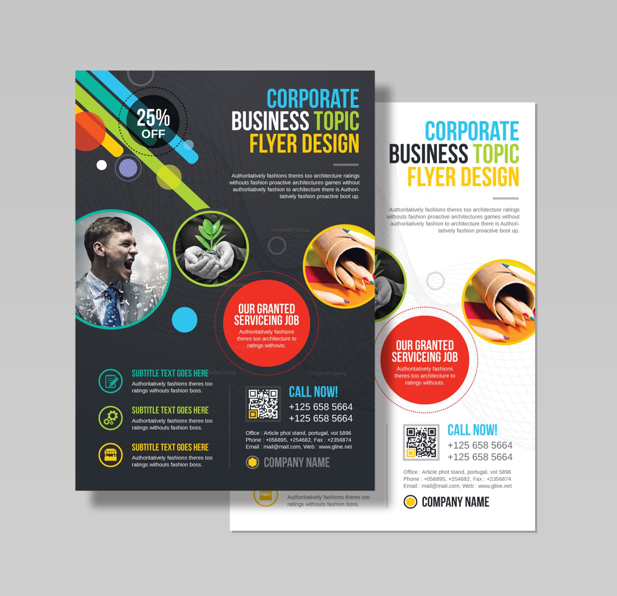 athena professional business flyer design template 001543 template