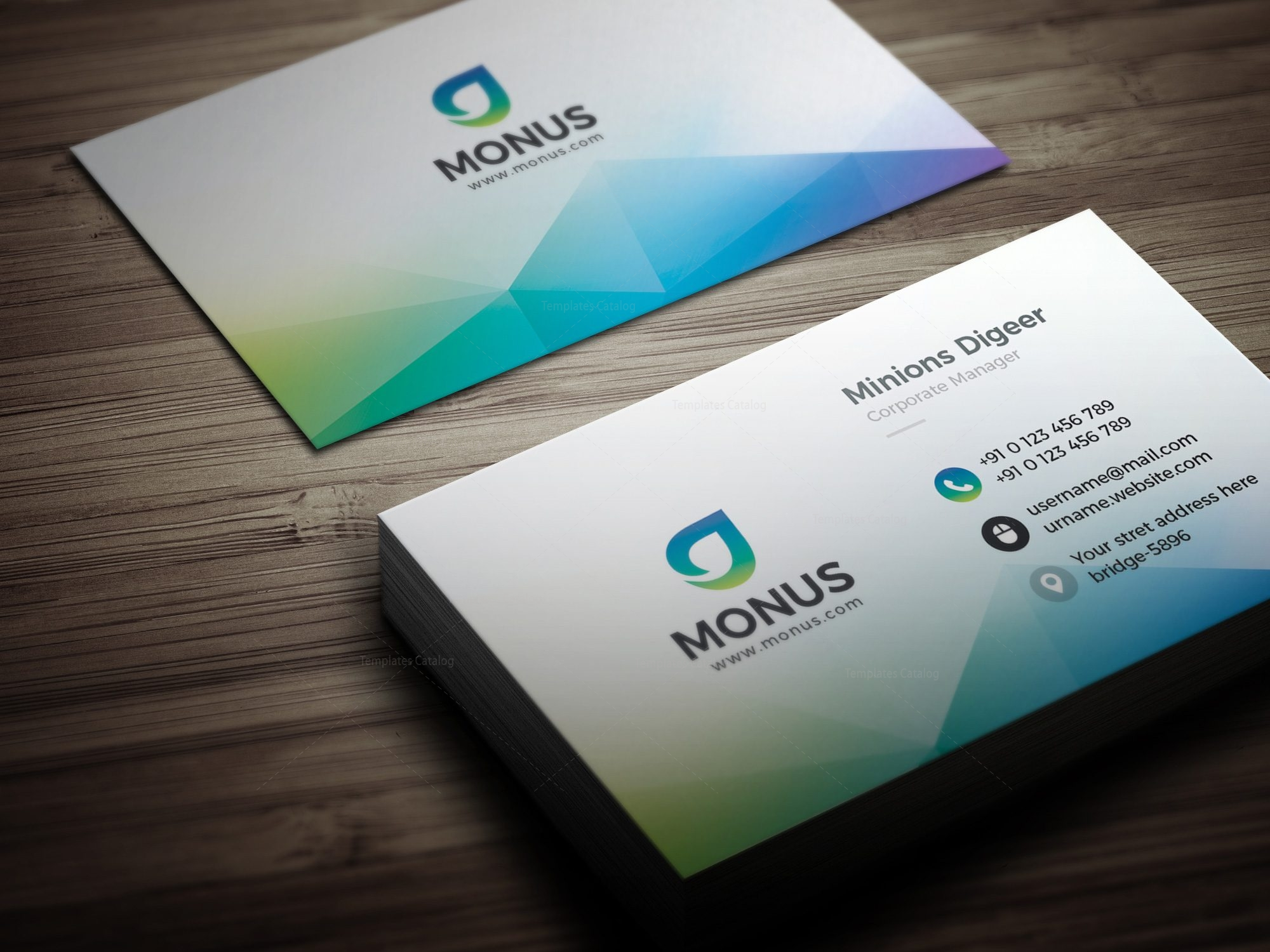 Aurora modern business card design template 001593 template catalog aurora modern business card design template 3 maxwellsz