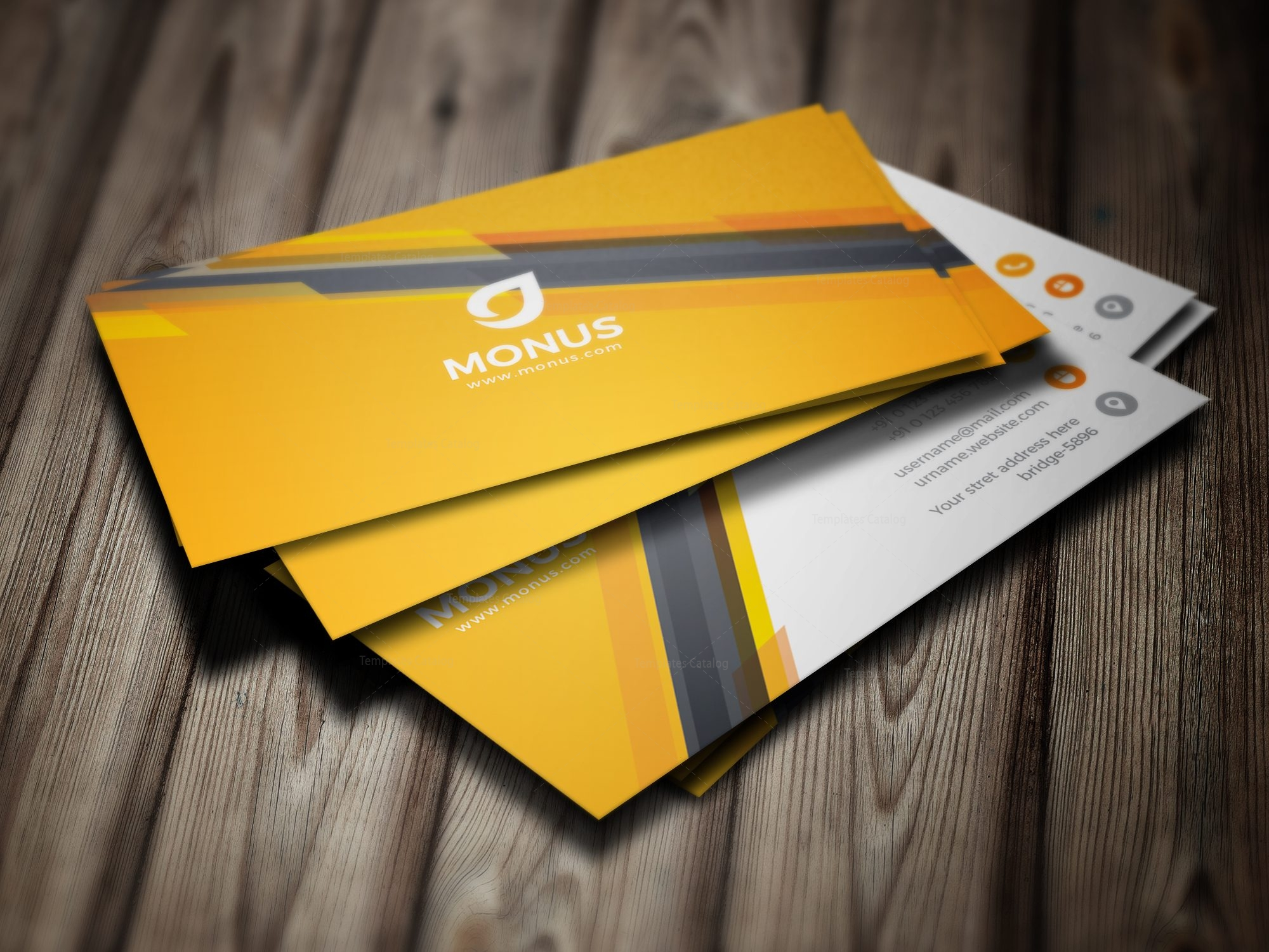 Awesome Corporate Business Card Design Template 001585