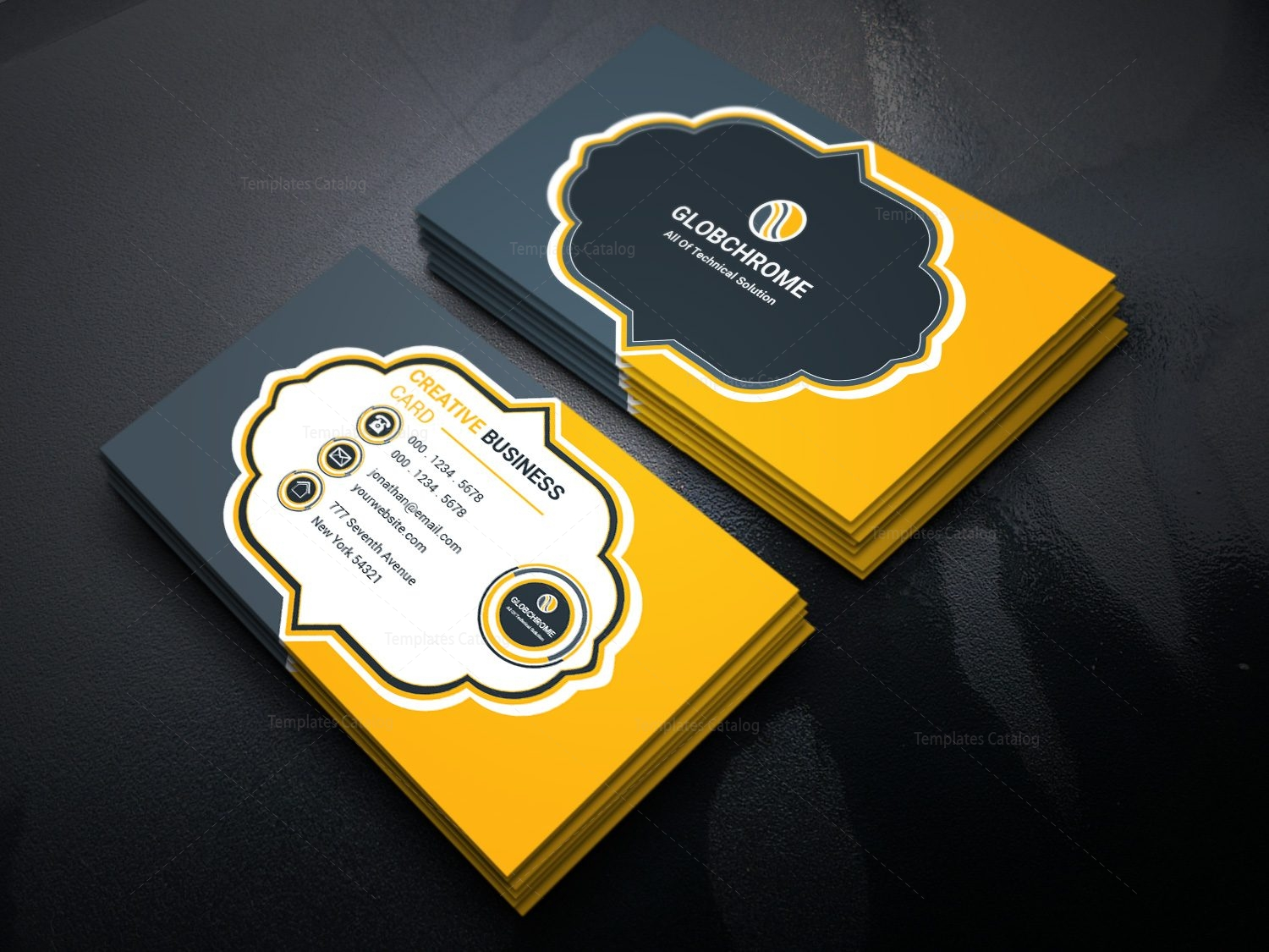badge modern business card design template 001621 template catalog