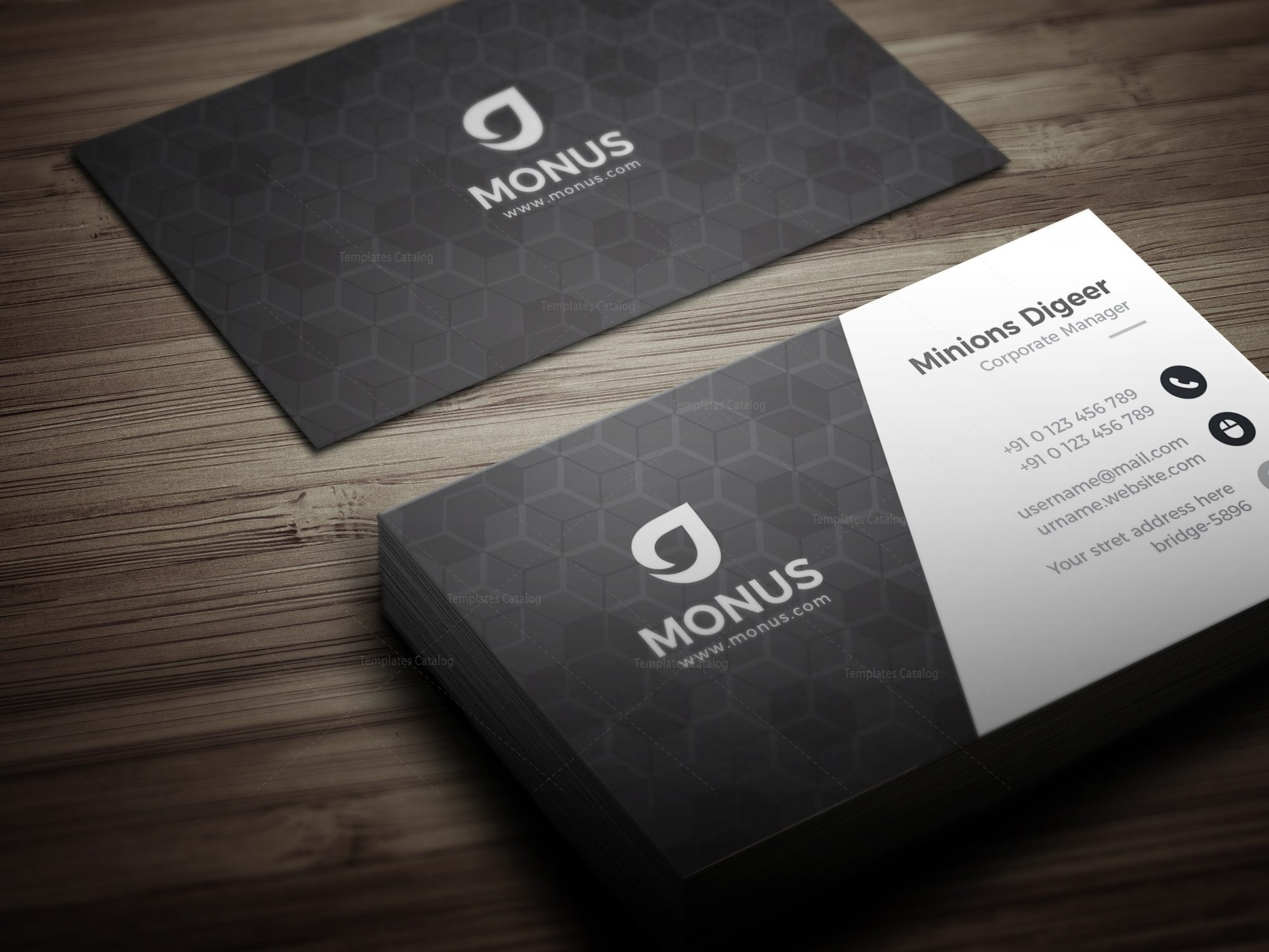 Black cubes modern business card design template 001592 template black cubes modern business card design template 3 fbccfo
