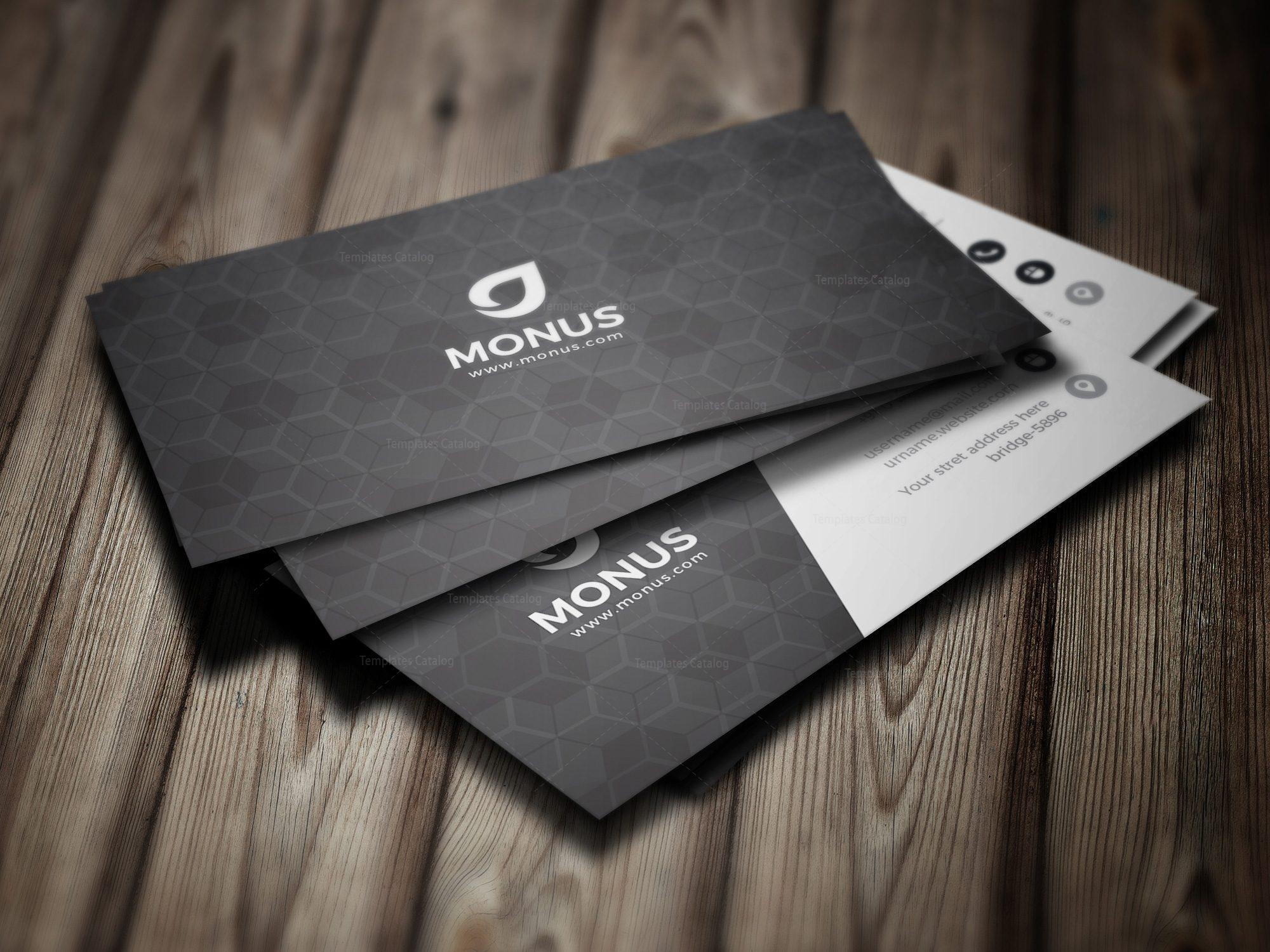 Black Cubes Modern Business Card Design Template 001592 - Template ...