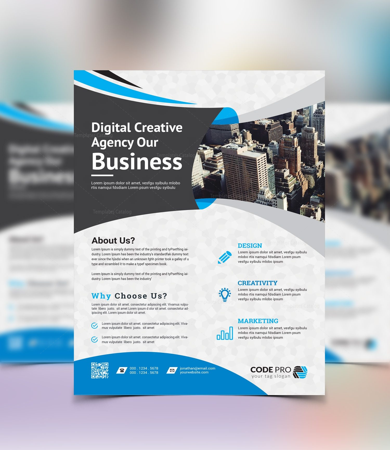 Brussels creative business flyer design template 001637 template brussels creative business flyer design template 3 accmission Choice Image