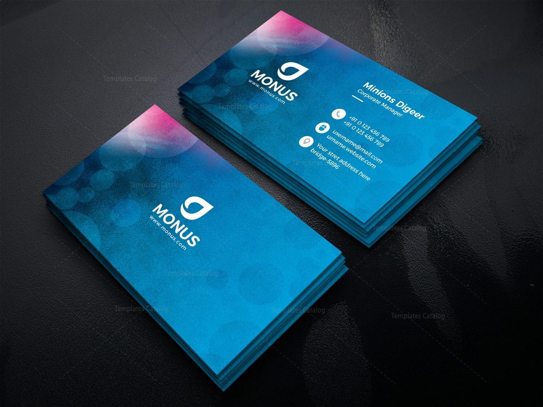 bubble modern business card design template 2 - Modern Business Card Design
