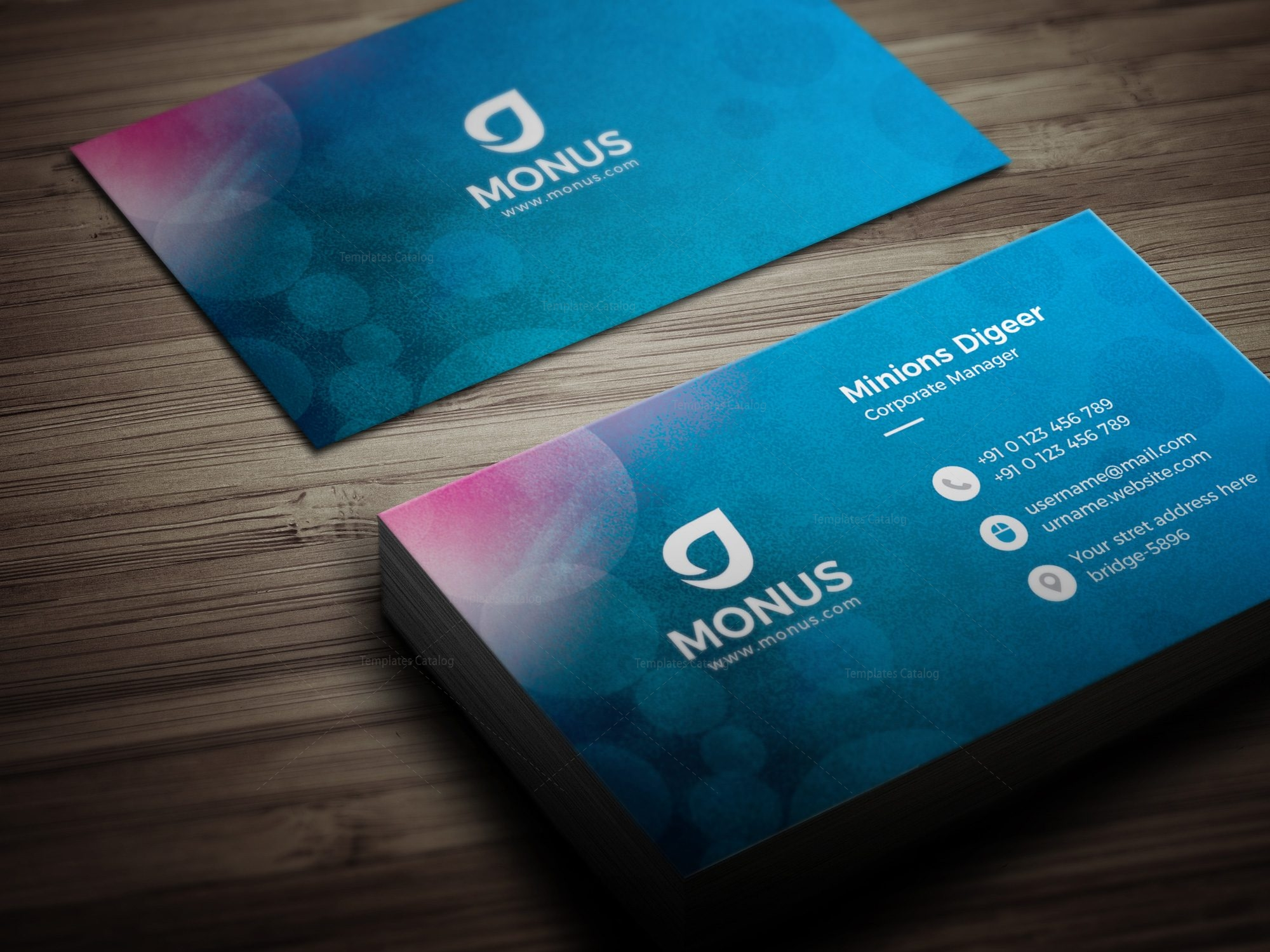 Bubble Modern Business Card Design Template 001594
