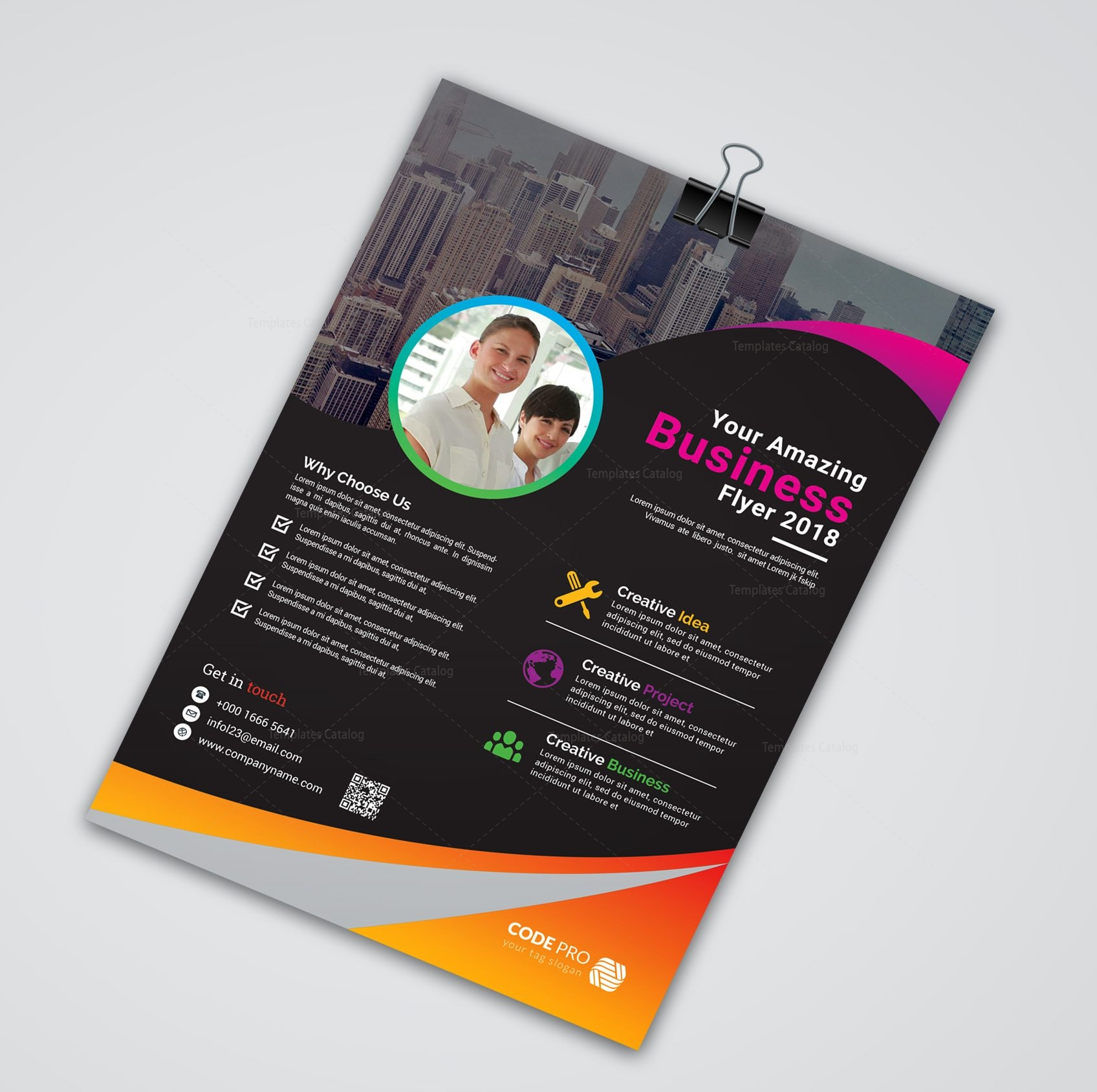 caracas creative business flyer design template 001638 template