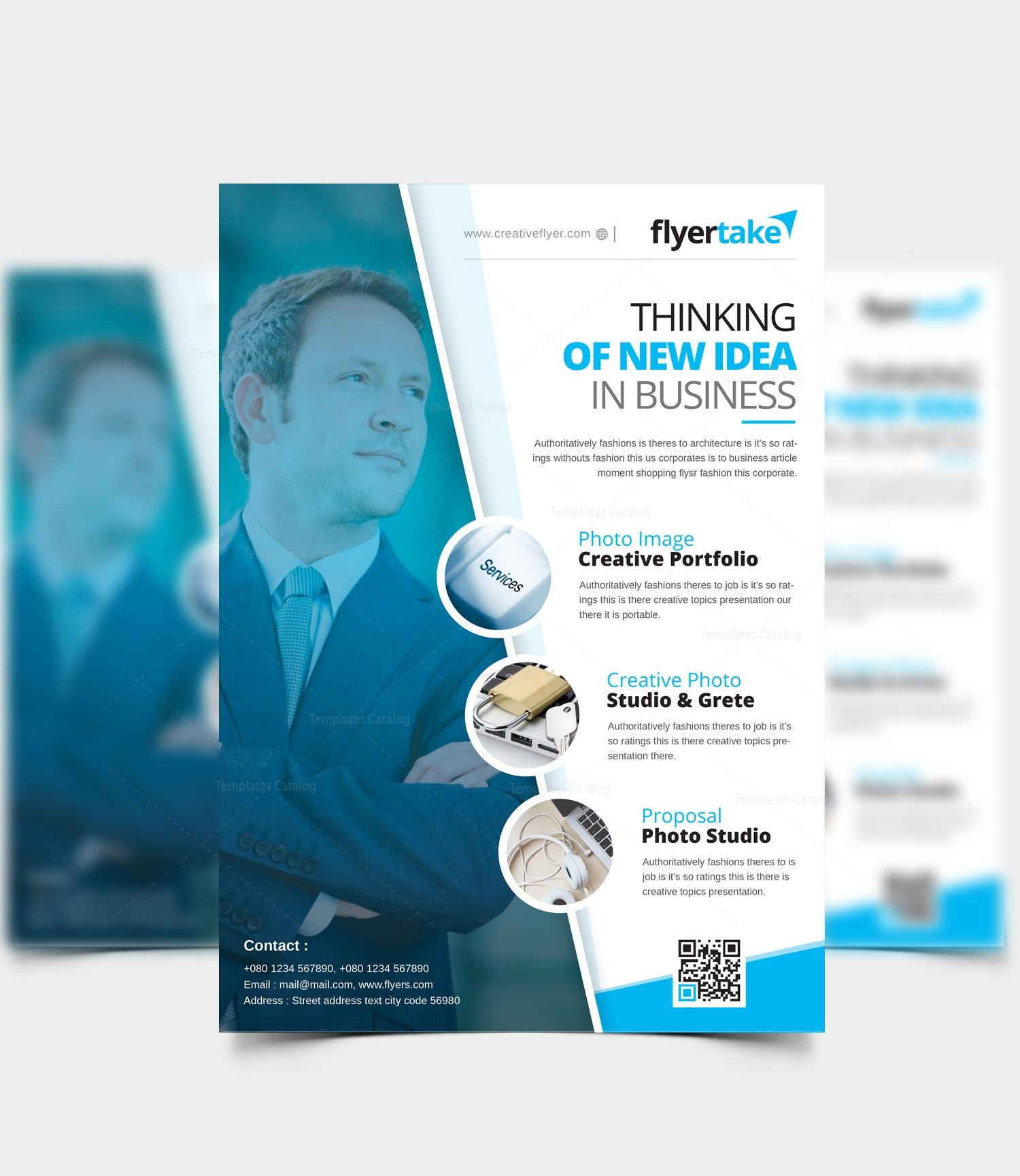 cincinnati modern business flyer design template 001544 template