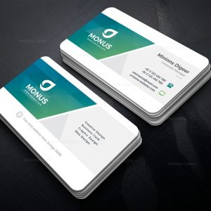 Clean Stylish Business Card Design Template