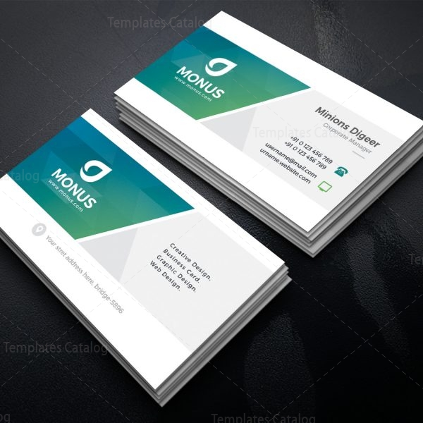 Clean stylish business card design template 001589 template catalog clean stylish business card design template 2 fbccfo Image collections