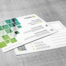 Creative Corporate Postcard Template with Square Shapes 2
