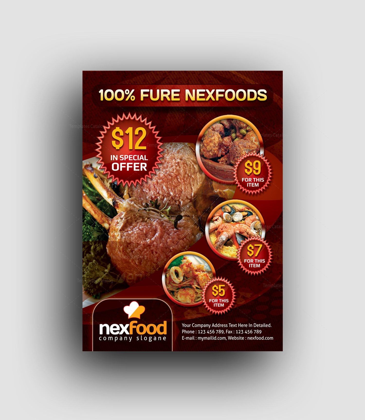 creative restaurant flyer design templates 1
