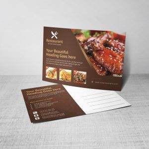 Creative Restaurant Postcard Design Template