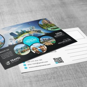 Creative Travel Postcard Design Template