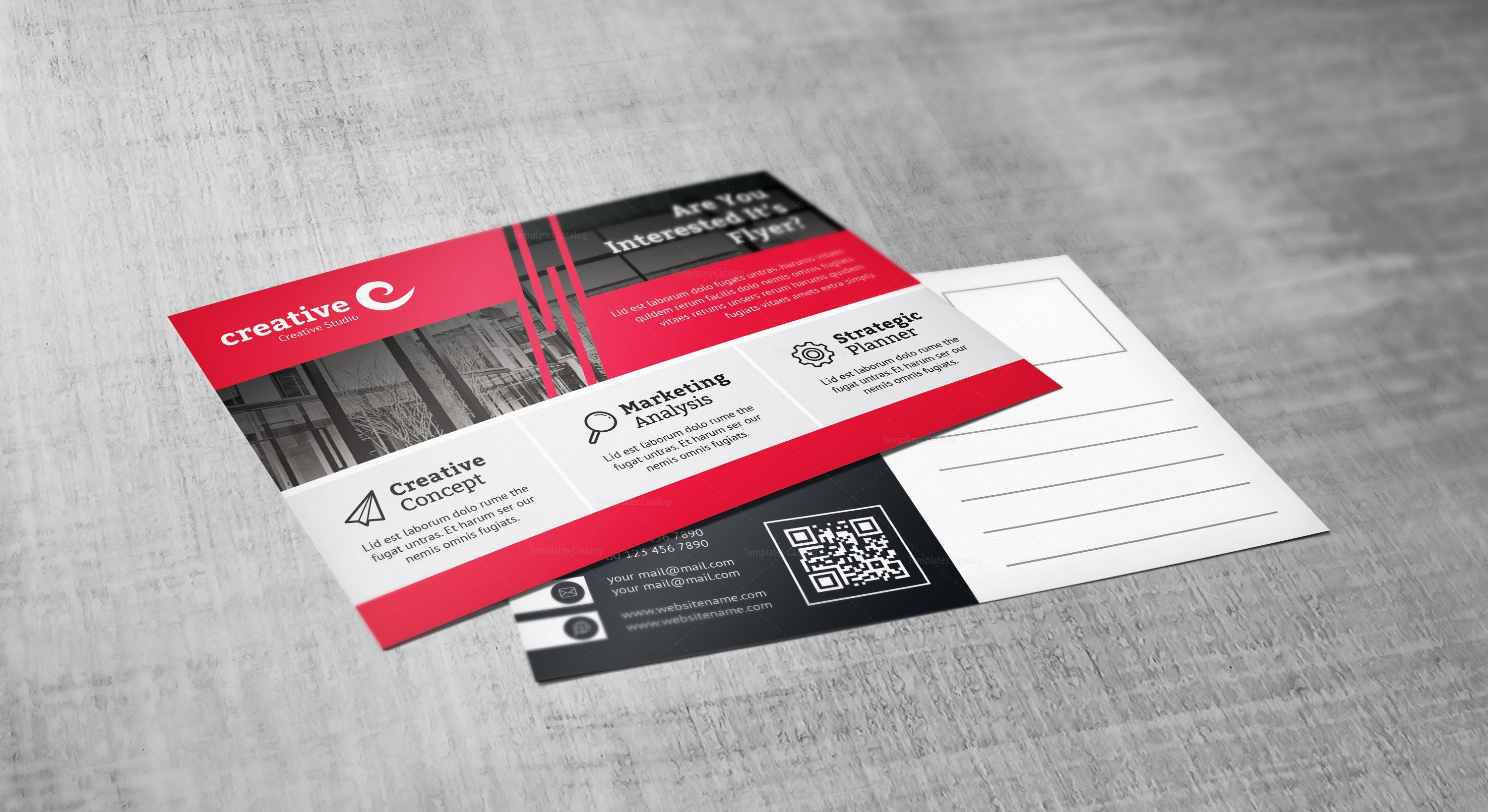 Demeter Stylish Creative Corporate Postcard Template 001563 ...