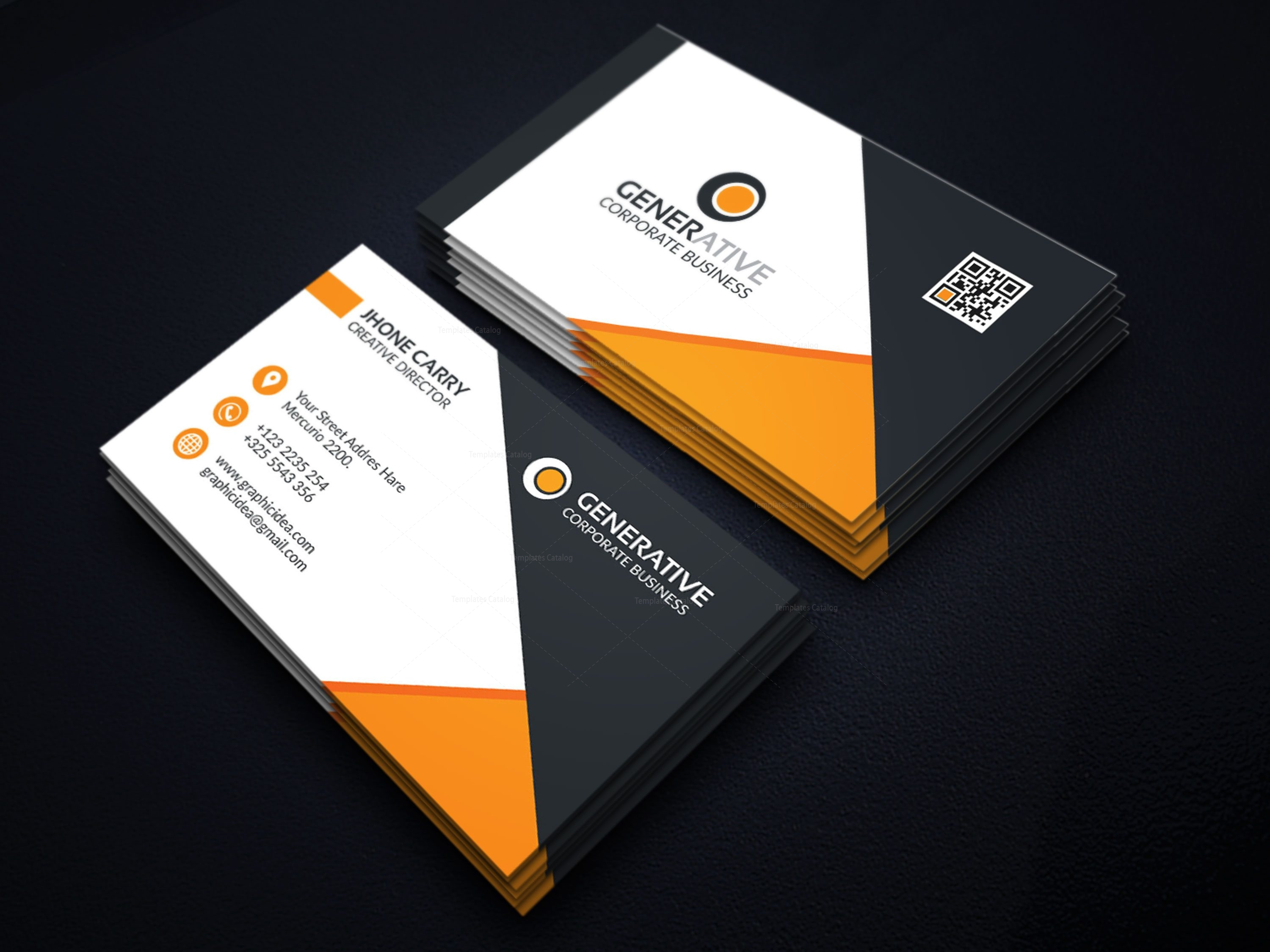 Eps creative business card design template 001596 template catalog eps creative business card design template 3 flashek Images