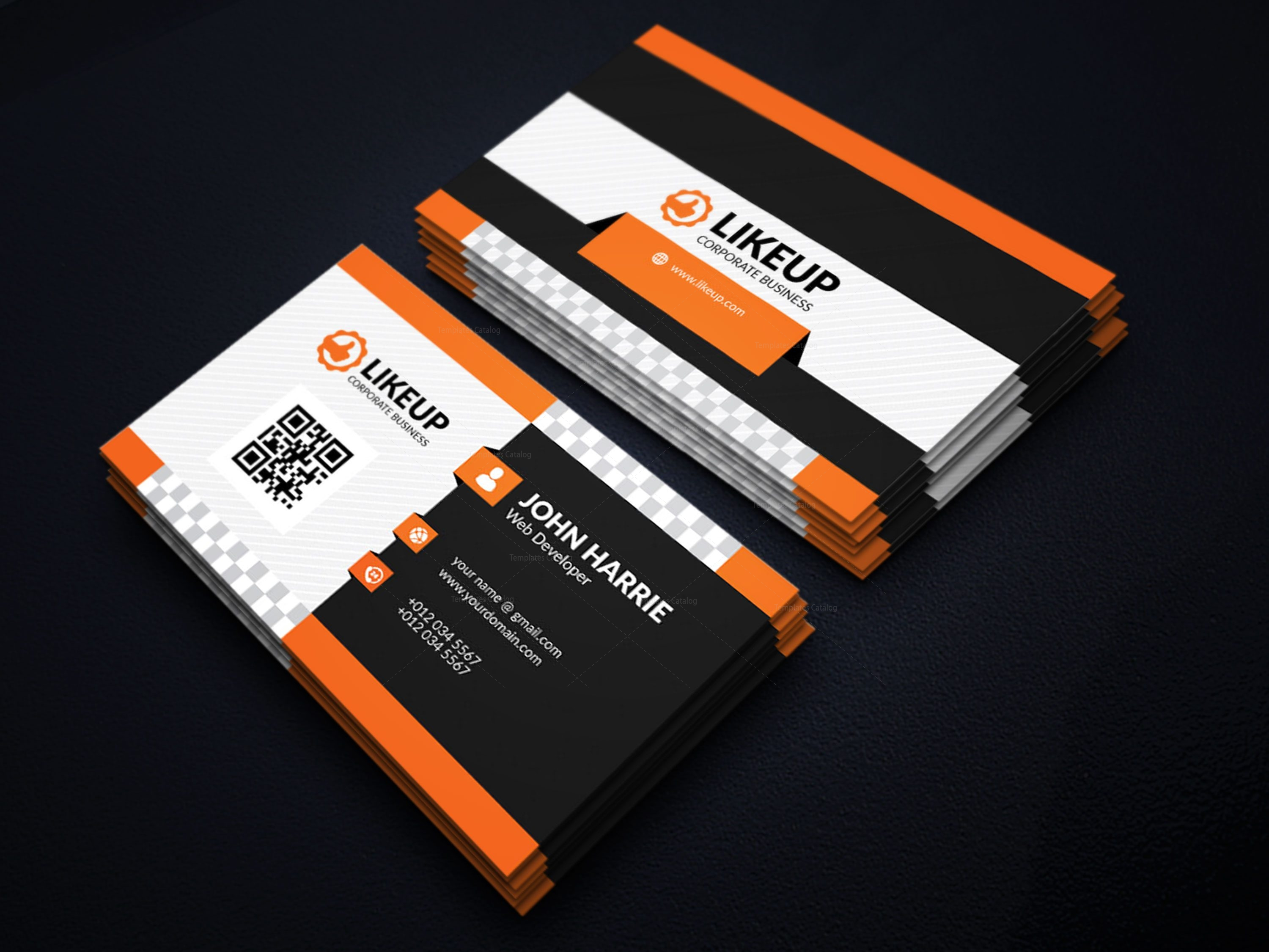 eps like business card design template 001598 template